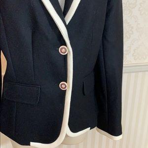 J. Crew Jackets & Coats - J. Crew Wool Lexington Blazer in Black & Cream